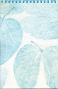 Handmade Notepad; Real Leaf Imprints on Handmade Paper; Sketchbook; Eco Friendly Paper Gift Idea