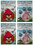 "Angry Birds ""Cute & Bubbly!"" & ""Red Alert"" Set (2 Pack) 96 Page Colouring and Activity Book"