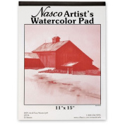 Nasco Recycled Paper Artists Watercolour Pad with 15 Sheets, 38cm x 28cm , 120 lbs