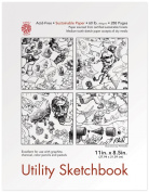 Pentalic Utility Sketch Book, 22cm by 28cm