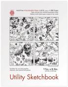 Pentalic Utility Sketch Book, 22cm by 28cm