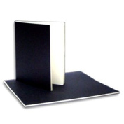 Soft Bound Sketch Book- Black Cover 20cm x 23cm