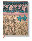 Paperblanks Mucha Journals iris Micro, 7cm . x 9.2cm . 160 pages, unlined