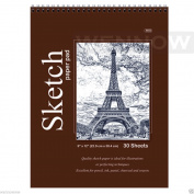 "Wennow ""9"""" × 12"""" (22.8cm × 30.4 cm) 30 Sheets Top Quality Sketch Book Paper Pad """