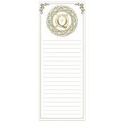 Grasslands Road Cucina Monogram Metallic Gold Letter Initial Q Magnetic Memo Pad