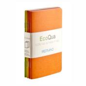 Ecoqua Blank Pocket Size Ntbk Warm Colours 4Pk