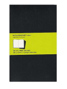 Moleskine Cahier Journals black, blank 13cm . x 21cm . pack of 3, 80 pages each [PACK OF 3 ]