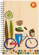 ecojot Sketchbook, Bear on Bike, 15cm x 23cm