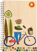 ecojot Sketchbook, Bear on Bike, 15cm x 23cm