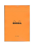 Rhodia Classic French Paper Pads blank 21cm . x 30cm . orange