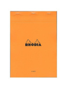 Rhodia Classic French Paper Pads ruled with margin 21cm . x 30cm . orange