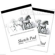 "Wennow ""23cm x 30cm 40 Sheets premium Quality Sketch Book Paper Pad Set of 5.1cm"