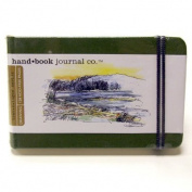 Hand Book Travelogue Journal Landscape Cadmium Green 3.5x5.5