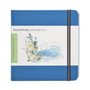 Global Art Materials 14cm by 14cm Drawing Book, The Square in Ultramarine Blue