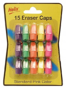 Helix Eraser Caps white pack of 10 professional hi-polymer [PACK OF 20 ]