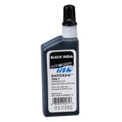 Chartpak 3084FBLA Rapidraw Ink, Fast-Drying, 90ml, Black