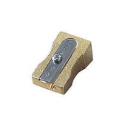 Solid Brass Single Hole Pencil Sharpener