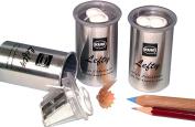 Kum 105.25.01 Magnesium Alloy 2-Hole Inner Left-Handed Sharpener with Aluminium Container
