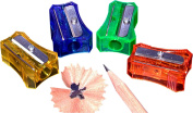 Kum 303.57.21 Plastic Stenograph Ice Steel Blade Pencil Sharpener, Colours Vary