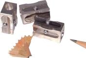 Kum 104.03.01 Magnesium Alloy Metal 1-Hole Steel Blade Rectangular Pencil Sharpeners