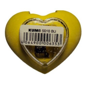 Kum 402.02.25 Polystyrene 1-Hole Steel Blade Fancy Heart Pencil Sharpeners with Eraser, Colours Vary