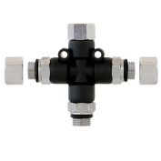 Airbrush Manifold 3-Way Air Hose Splitter 0.3cm Taps