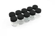 NEW 10X Airbrush Glass bottles blank lids 22CC STANDARD AB-G1