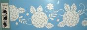 13cm x 41cm Laser Cut Border Stencil - Spring Floral