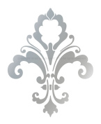 Size 18cm (w) X 23cm (h) Decorative Designer Stencil Fleur De Lis Chic Wall Decor Damask Mural #3004