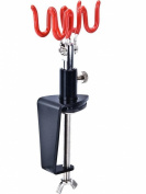 New 2 Airbrush holder clamp-on table mount hobby kit AB-H3