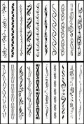 Airbrush Tattoo Stencil Set 61 Book of 20 Armband Templates