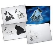 Step by Step Airbrush Stencil Template AS-001 M ca. 13cm x 10cm
