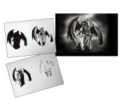Step by Step Airbrush Stencil Template AS-106 M ca. 13cm x 10cm