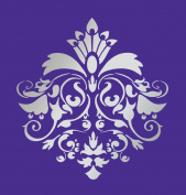 Size 38cm x 41cm Designer Damask Stencil for Walls, Cakes, Curtains, Murals, Faux, Design #1026
