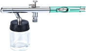 0.35MM Pro Dual-Action Syphon-Feed Airbrush Cutaway Green Handle AB800GR