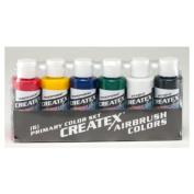 Createx 60ml Set Of 6 Primary Colours