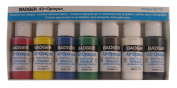 Badger Air-Brush Company Air-Opaque Airbrush Ready Water Based Acrylic Paint, Primary, 30ml Each, Set of 7