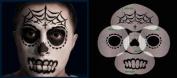 Nixs Coll-Sugar Skull Basic #3 Airbrush Makeup Face Template