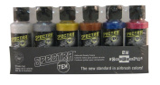 Badger Air-Brush Company Spectra-Tex Airbrush Ready Water Based Acrylic Paint, Metallic, 60ml Each, Set of 6