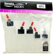Iwata Airbrush 5 BOTTLE SET I 470 PKG - SOLVENT PROOF BOTTLES