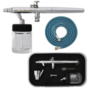 Master Airbrush® Brand S68 Multi-purpose Dual-action Airbrush for Auto-hobby-craft. Complete Airbrush Set with Cup, Bottle, Case and Now a (FREE) How to Airbrush Training Book to Get You Started, Published Exclusively By Master Airbrush.and a Free 6' ..