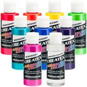 Iridescent 8 Createx Airbrush Paint Colours Set 60ml Bottles