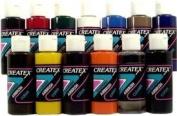 TRANSPARENT 12 CREATEX AIRBRUSH PAINT colours SET