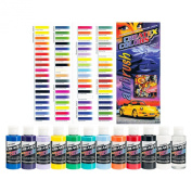 Createx Colours Ready to Use Airbrush Paint Set of ALL 11 Opaque Colours Plus Free Bonus