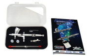 Master Airbrush® G444-SET High Precision Detail Control Dual-action Gravity Feed Airbrush Professional Set and Now a (FREE) How to Airbrush Training Book to Get You Started.