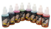 8 colour TATTOO INK 30ml SIZE SECONDARY colours TEMPORARY AIRBRUSH PAINT SET