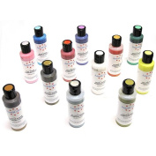 Americolor Amerimist Metallic and Pearl Sheen 12 Colour Cake Decorating Airbursh Colour