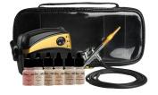Glam Air Airbrush Makeup Machine System with 5 Medium Satin Shades of Foundation and Airbrush Blush medium