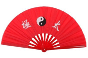 NuoYa001 New Chinese Kung Fu Martial Arts Dance/Practise Performance Tai Chi Fan Bamboo