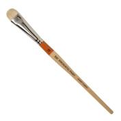 R & F Handmade Paints Encaustic Short Filbert Paintbrush, No.10